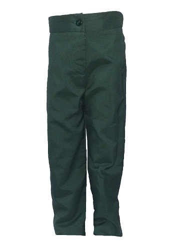 bottle green girls pants 10007