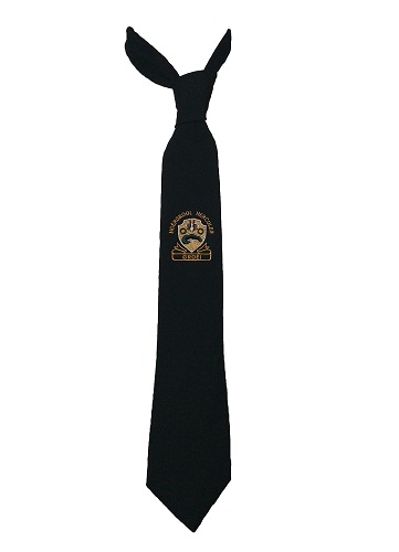 hercules high school tie with emblem 10022