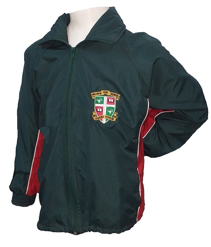 hillview tracksuit jacket with emblem 10036