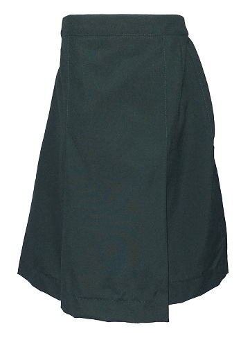 bottle green girls skirt 10039