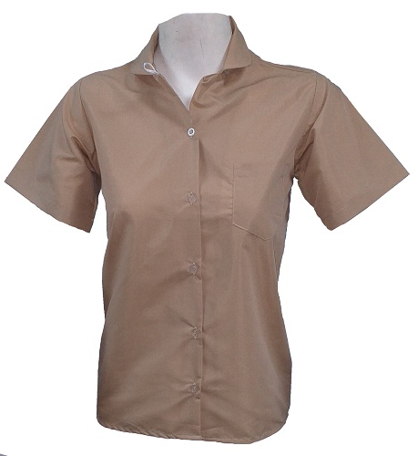 brown girls short sleeve shirt 10046