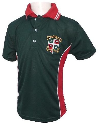hillview short sleeve golf T-shirt with emblem 10052