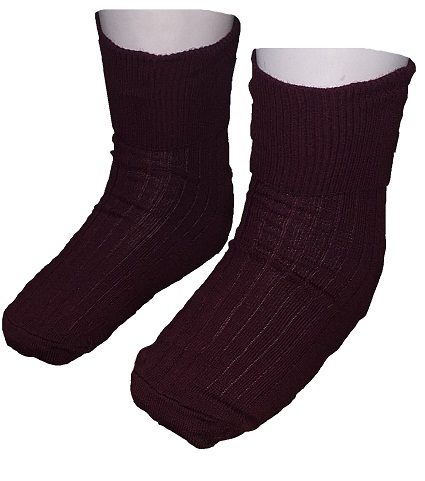 maroon girls anklet Socks 10057