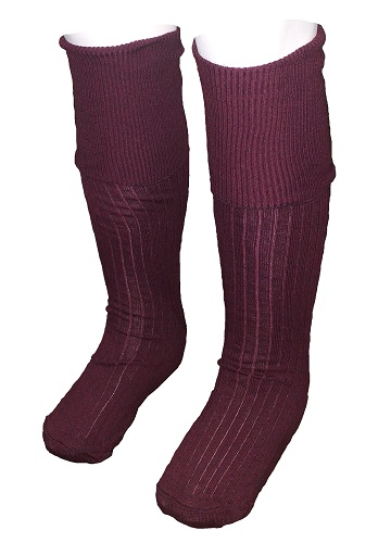 maroon boys Long Socks 10058