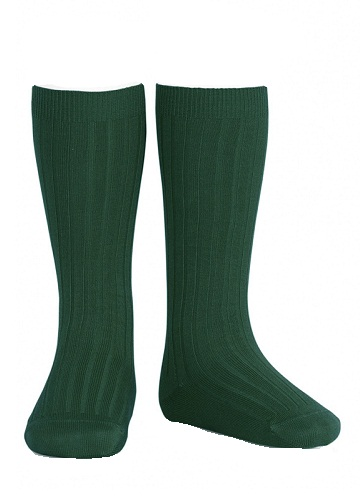 Bottle green long socks 10062
