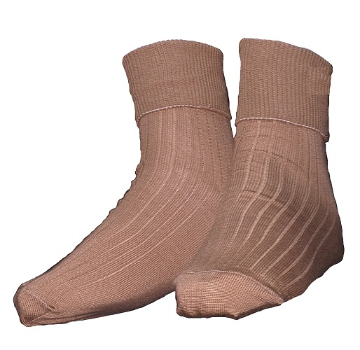 brown girls anklet socks 10065B