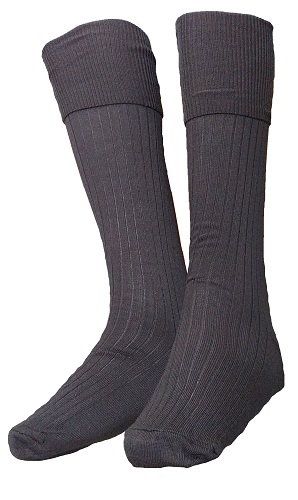 brown boys long socks 10066