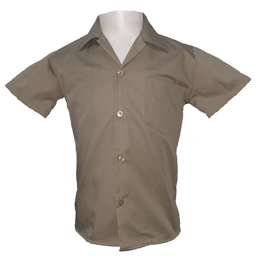 khaki boys short sleeve shirt 10443