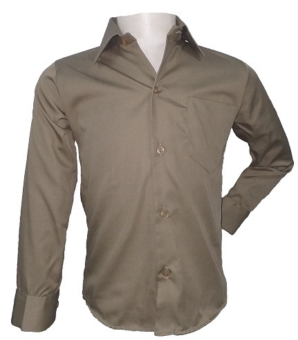 khaki boys long sleeve shirt 10445