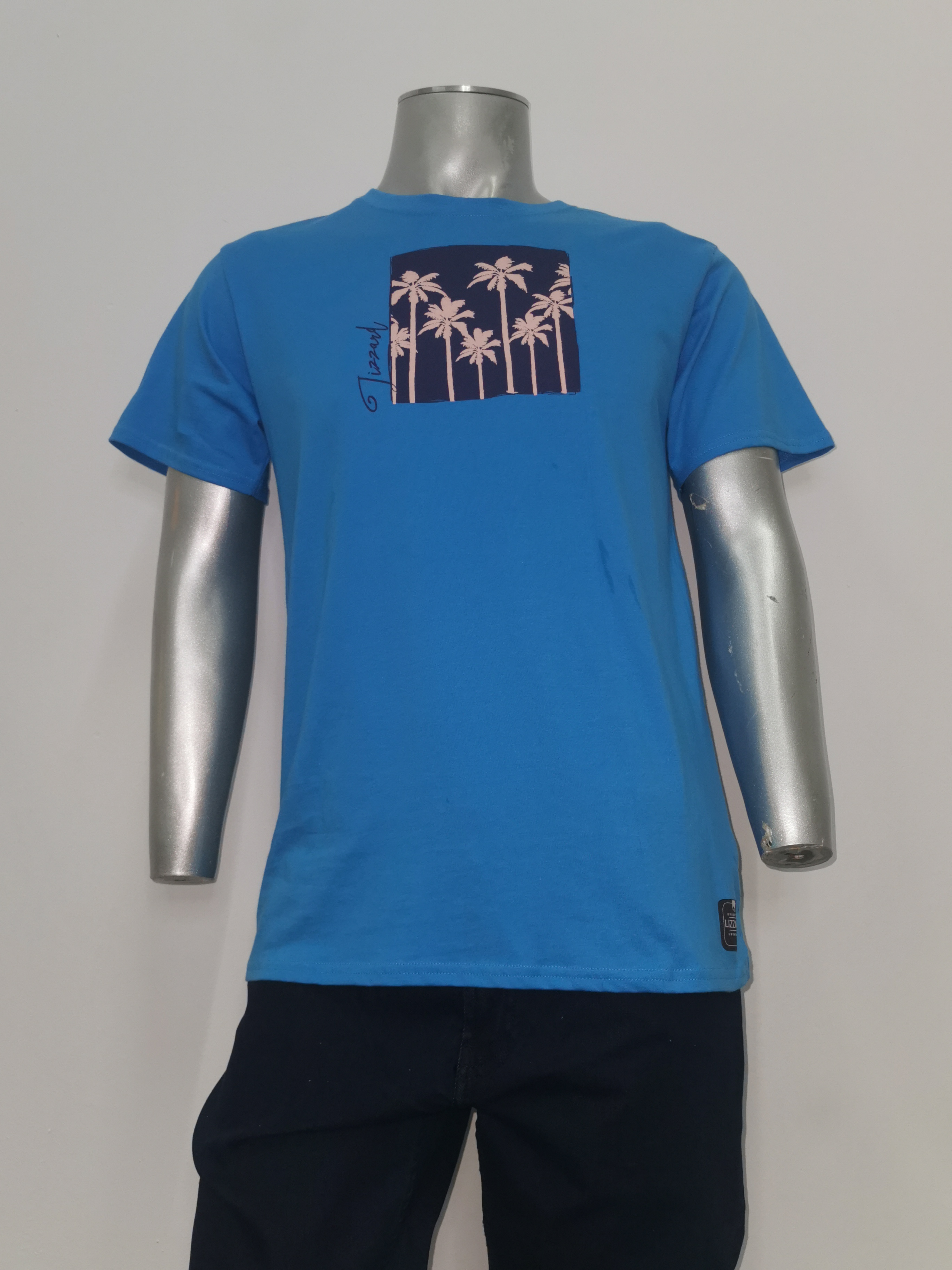 Lizzard s/s T-shirt MS19516 BLUE