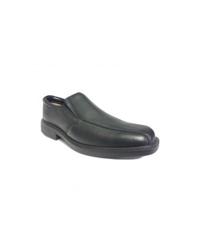 MENS SHOE BLACK AIRSTEP NATAN SLIP ON
