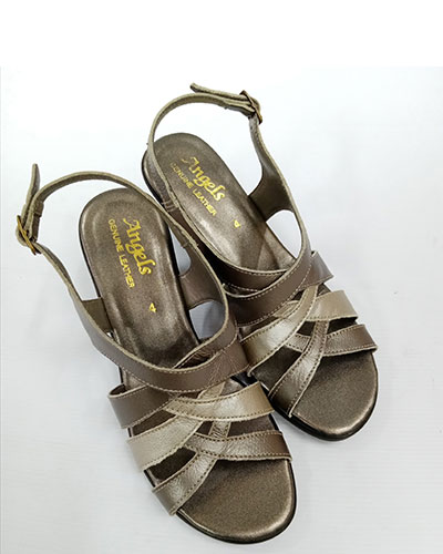 ANGEL LADIES SHOE PEWTER/GOLD 21009 PARIS 15