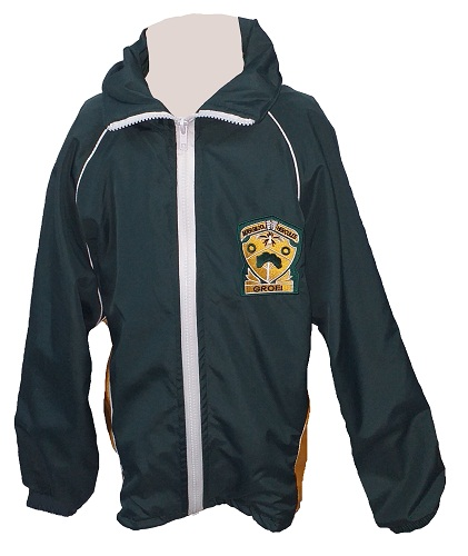 hercules high padded tracksuit jacket with emblem 21050