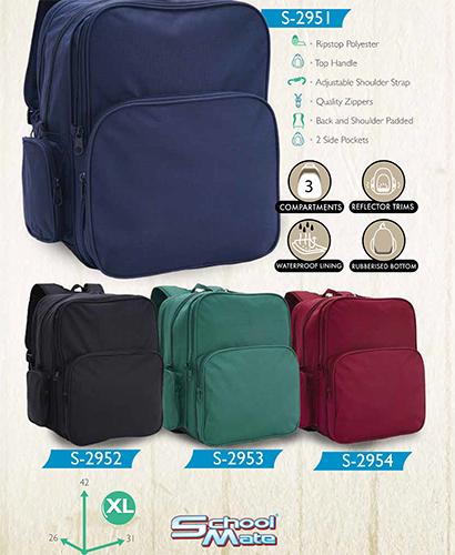 school mate (GREEN) back pack S-2953