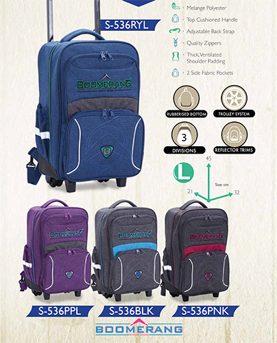 boomerang trolley back pack S536