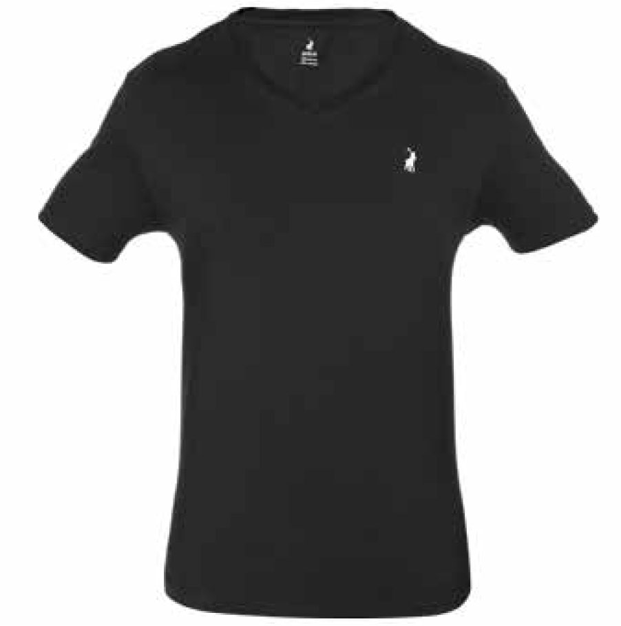 BLACK V-NECK TSHIRT