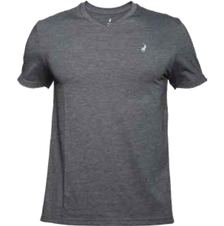 CHARCOAL V-NECK TSHIRT