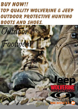 WOLVERINE-JEEP-SALOMON-MERRELL OUTDOOR BOOTS & SHOES