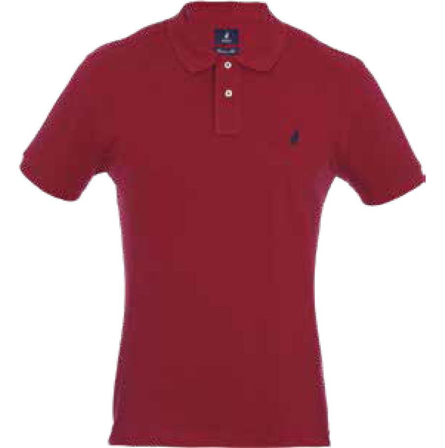 MAROON POLO STRETCH PIQUE SS GOLFER