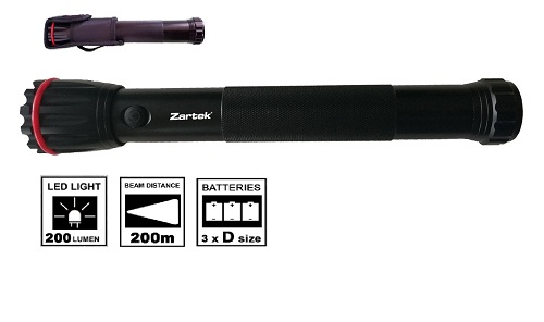 Zartek LED Heavy Duty Baton Torch ZA411