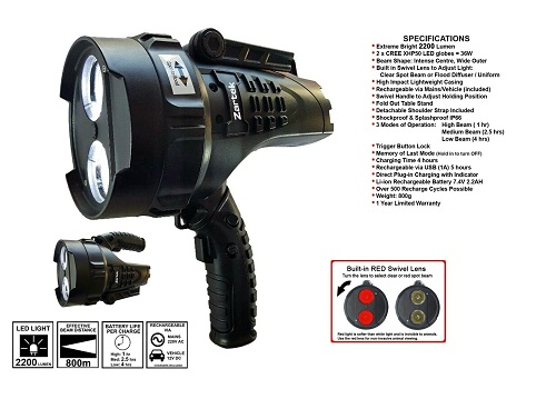 Zartek Mega Bright LED Spotlight ZA467R