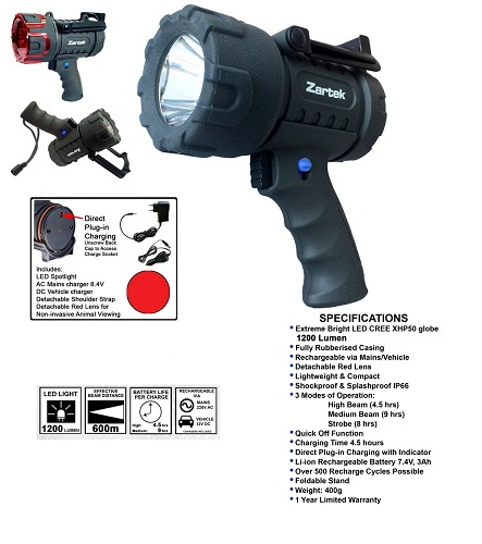 Zartek Extreme Mega Bright LED Spotlight ZA478