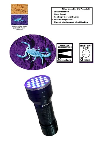 Zartek LED UV Flashlight ZA493